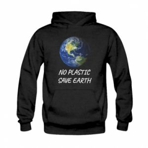 Kid's hoodie No plastic save earth