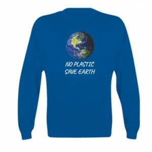 Kid's sweatshirt No plastic save earth