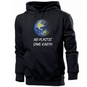 Men's hoodie No plastic save earth