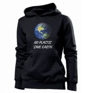 Women's hoodies No plastic save earth