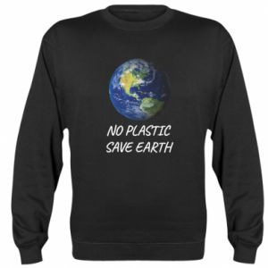 Sweatshirt No plastic save earth