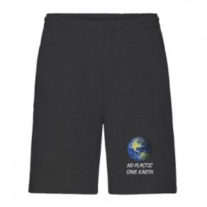 Men's shorts No plastic save earth