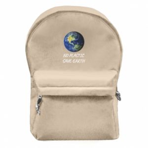 Backpack with front pocket No plastic save earth