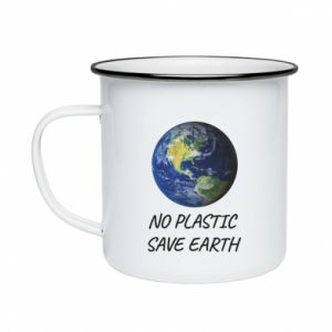 Enameled mug No plastic save earth