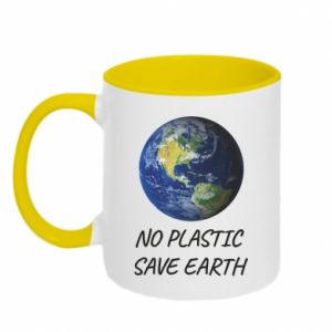 Kubek dwukolorowy No plastic save earth