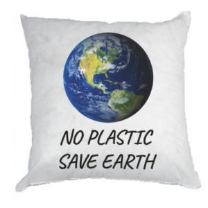 Pillow No plastic save earth