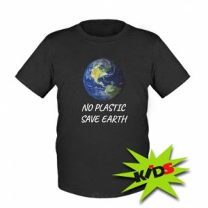 Kids T-shirt No plastic save earth