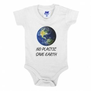 Baby bodysuit No plastic save earth