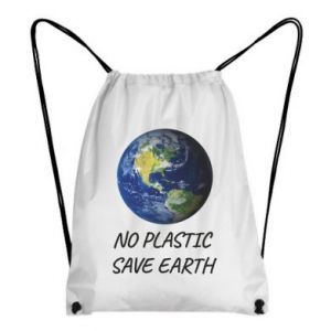 Backpack-bag No plastic save earth