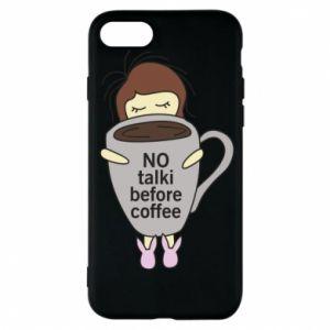 Etui na iPhone 7 No talki before coffee