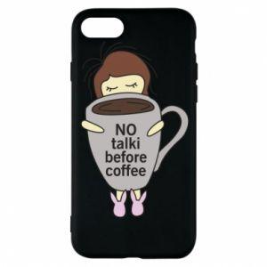 Etui na iPhone 8 No talki before coffee