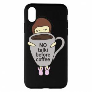 Etui na iPhone X/Xs No talki before coffee