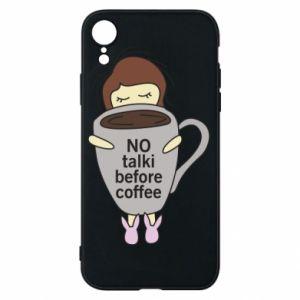 Etui na iPhone XR No talki before coffee
