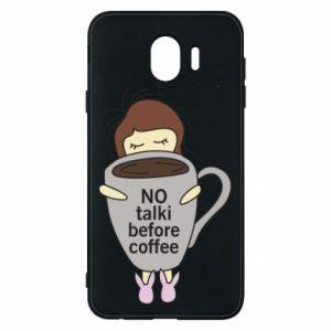 Etui na Samsung J4 No talki before coffee