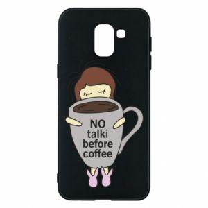 Etui na Samsung J6 No talki before coffee