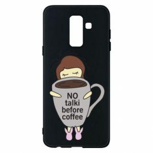 Etui na Samsung A6+ 2018 No talki before coffee