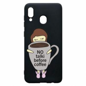 Etui na Samsung A20 No talki before coffee