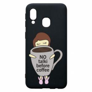 Etui na Samsung A40 No talki before coffee