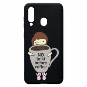 Etui na Samsung A60 No talki before coffee