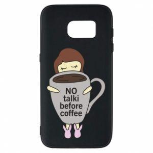 Etui na Samsung S7 No talki before coffee