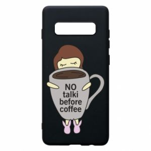 Etui na Samsung S10+ No talki before coffee