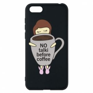 Etui na Huawei Y5 2018 No talki before coffee
