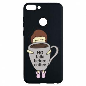 Etui na Huawei P Smart No talki before coffee