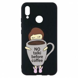 Etui na Huawei P20 Lite No talki before coffee