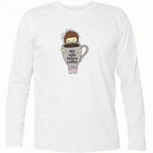Koszulka z długim rękawem No talki before coffee