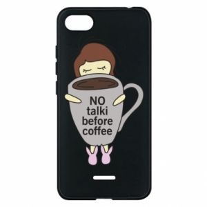 Etui na Xiaomi Redmi 6A No talki before coffee