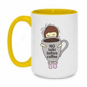 Kubek dwukolorowy 450ml No talki before coffee