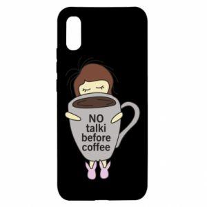 Xiaomi Redmi 9a Case No talki before coffee