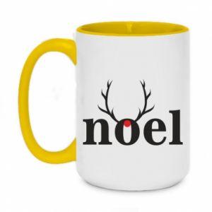 Two-toned mug 450ml Noel