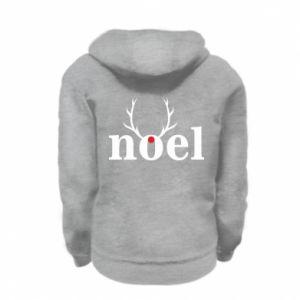 Kid's zipped hoodie % print% Noel