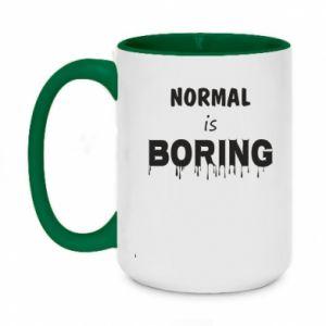 Kubek dwukolorowy 450ml Normal is boring
