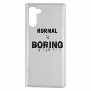 Etui na Samsung Note 10 Normal is boring