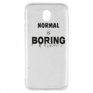 Etui na Samsung J7 2017 Normal is boring