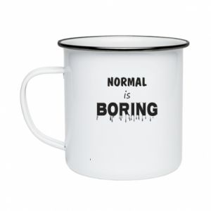 Kubek emaliowany Normal is boring