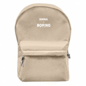 Backpack with front pocket Normal is boring