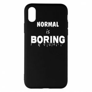 Etui na iPhone X/Xs Normal is boring