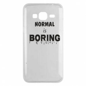 Etui na Samsung J3 2016 Normal is boring