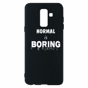 Etui na Samsung A6+ 2018 Normal is boring