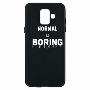 Etui na Samsung A6 2018 Normal is boring