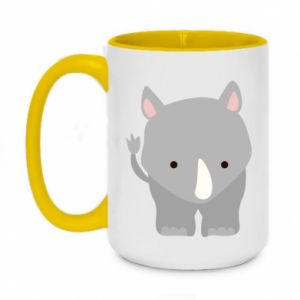 Two-toned mug 450ml Rhinoceros