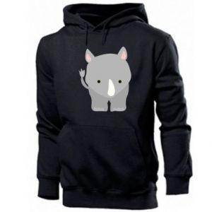 Men's hoodie Rhinoceros