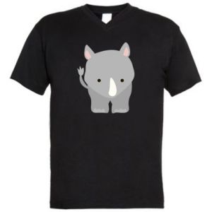 Męska koszulka V-neck Nosorożec