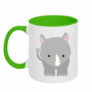 Kubek dwukolorowy Nosorożec