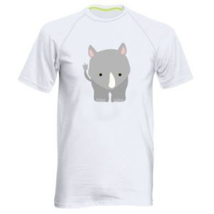 Men's sports t-shirt Rhinoceros