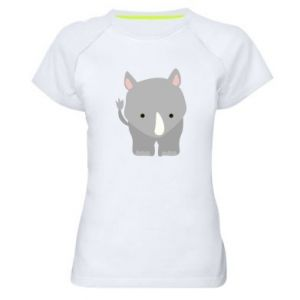 Women's sports t-shirt Rhinoceros