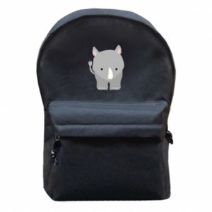 Backpack with front pocket Rhinoceros